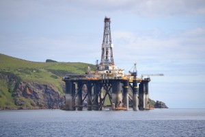 Oil Rig in the Cromarty Firth..